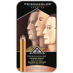 Case of 24 Prismacolor Premier Colored Pencil Portrait Set Drawing Painting Shading Penciling Arts Crafts by TickleMyToesBoutique on Etsy