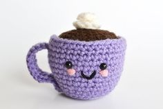 Amigurumi Coffee or Tea Cup Pincushion  Crochet by BubblegumBelles, $3.50