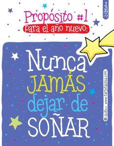 Nunca jamás dejar de soñar © ZEA www.tarjetaszea.com