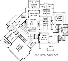 Angled Craftsman Home Plan with Outdoor Spaces Craftsman Mountain Ranch Floor Master Suite Bonus Room Butler Walkin Pantry CAD Available Jack Jill Bath PDF. Ranch House Plans, Craftsman House Plans, Best House Plans, Country House Plans, Dream House Plans, House Floor Plans, Craftsman Homes, Craftsman Ranch, Luxury Houses