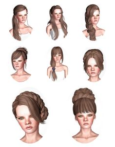 Skysims Hair Dump Part I by Wicked - Sims 3 Downloads CC Caboodle