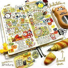 Weeks~♪ #art #illustration #drawing #doodle #stationary #sketch #sketchbook…