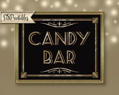 Printable CANDY BAR Wedding or party Art by PSPrintables on Etsy