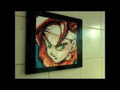 Chrono Pixel art em MDF