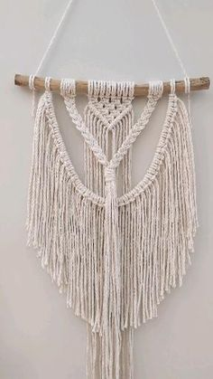 This beautiful natural cotton macrame wall hanging is lovingly handmade right at our studio in Dundry, Bristol. Macrame Wall Hanging Patterns, Boho Wall Hanging, Macrame Plant Hangers, Free Macrame Patterns, Hanging Rope, Quilt Patterns, Macrame Design, Macrame Art, Macrame Projects