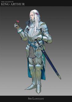 "ArtStation - ""The Legend of King Arthur"" - character designs, Veli Nyström King Arthur Characters, D D Characters, Fantasy Characters, Fantasy Character Design, Character Inspiration, Character Art, Medieval Knight, Medieval Fantasy, Paladin"