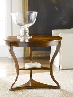 "Modern History MH176F01 Large Regency End Table finish: Rosewood w/ Inlays w 32 "" h 27 "" d 32 """