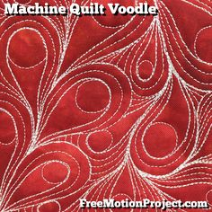 Learn how to machine quilt Voodle