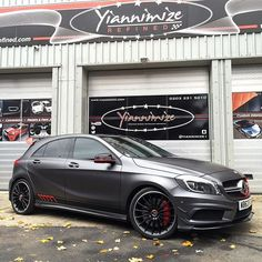 Instagram media by yiannimize - A45 AMG now complete it satin grey with edition 1 decals. This works so well! @j9prestige collecting it tomorrow. #mercedes #a45 #amg #yiannimize