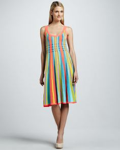 """Perfect for summer cocktails! kate spade new york """"arielle"""" striped sleeveless dress"""
