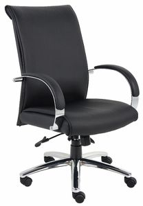 Boss Chair CaressoftPlus Aaria Executive High Back Office Chair in Black