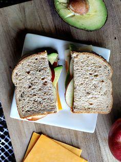 Cheddar + Swiss, Fuji Apple, and Avocado Sandwich (ad) #SargentoAtMeijer #IC