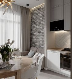 Home design natural kitchens 48 ideas Interior Design Living Room, Living Room Designs, Small Apartment Design, Deco Design, Home And Deco, Modern Kitchen Design, Home Decor Kitchen, Lofts, Cheap Home Decor