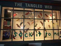 sock window display - Google Search