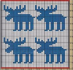 Terrific Snap Shots knitting charts moose Concepts Ravelry: Potholder Xmas Mooses pattern by Regina Schoenfeldt Fair Isle Knitting, Arm Knitting, Knitting Charts, Double Knitting, Knitting Stitches, Knitting Patterns, Crochet Patterns, Crochet Birds, Crochet Food