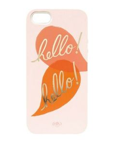 Don't really need a new iphone case but wouldn't this make a cute pillow. Loving the pink, orange and gold right now.