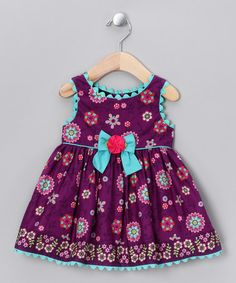 Take a look at this Purple Floral Dress - Toddler & Girls by Sweet Heart Rose on #zulily today!