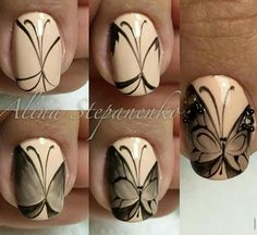 Butterfly nail tutorial
