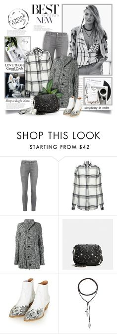 """Fashion Focus"" by thewondersoffashion ❤ liked on Polyvore featuring Current/Elliott, Marissa Webb, Ann Demeulemeester, Coach, Topshop and Vanessa Mooney"