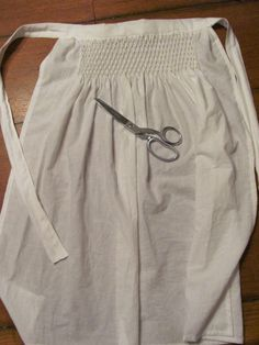 Copy of a medieval smocked apron.