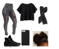 """Challenge By Ali"" by ashanti-11 ❤ liked on Polyvore featuring Madewell, Converse and Case-Mate"