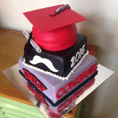 Unlv Black And Red Graduation Cake So Many Cakes So