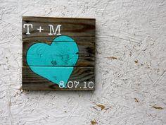 Pallet wood art. Heart. Wedding Gift. by terrafirma79 on Etsy
