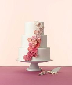 #Ombre Wedding Cake—Click through for the 11 Best Wedding Trends of 2013! (Photo by by Devon Jarvis, Cake by Erica OBrien)