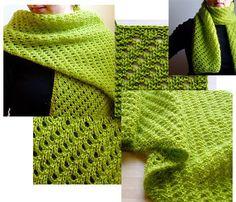Modèle de tricot gratuit Helleborus (écharpe)