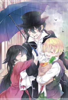 Alice , Gil , and oz ( pandora hearts) Pandora Hearts Gilbert, Gilbert Nightray, Manga Anime, Oz Vessalius, Manga Box Sets, Fanart, Alice, Yellow Eyes, Vanitas