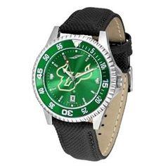 South Florida USF Bulls Men's Leather Wristwatch