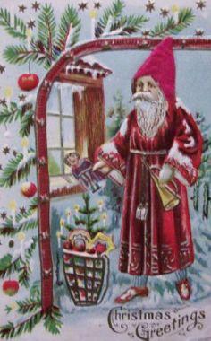 Christmas Postcards : The Vintage Postcard Shop  From Austria