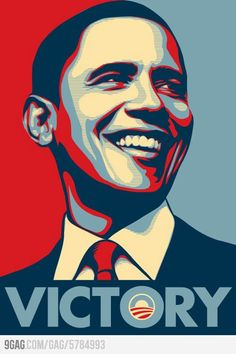 The latest 2012 President Barack #Obama Hope poster ... Victory!! I like this one better than the original #art
