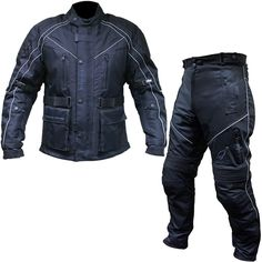 Black Hazard Jacket and Trousers Kit Black  Description: The Black Hazard Motorcycle Apparel is packed with       features…              HAZARD JACKET                       Exclusive to GhostBikes                    Long length winter motorcycle jacket                    Waterproof Membrane                    Fully removable...  http://bikesdirect.org.uk/black-hazard-jacket-and-trousers-kit-black-2/