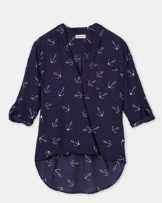 Wrap printed blouse