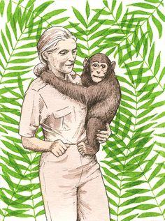 Jane Goodall by Alison Kolesar