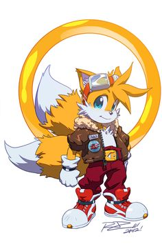 """Continuation of the styled Sonic redesigns, y'know, since you guys loved it so much. Here's """"Tails""""! Young Sir Prower is a prodigy pilot, mechanic, and expert on Chaos Emeralds. That typical """"young..."""