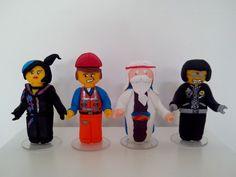Lego movie modelado em biscuit