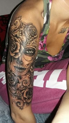 Muerte tattoo Girls