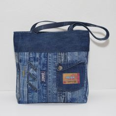 Unique Handmade Pouch 100/% recycled Jeans