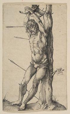"""Albrecht Durer, """"St. Sebastian Tied to a Tree."""""""