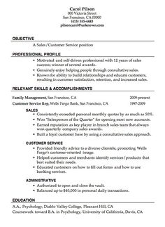 Customer service resume, Resume objective and Resume on Pinterest