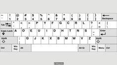 Dvorak keyboard layo