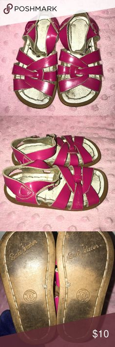 Pink salt water sandals Very well loved pair of saltwater sandals. Lots of life left though. Size 6. Hot pink. Salt Water Sandals by Hoy Shoes Sandals & Flip Flops