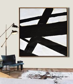Abstract Painting on canvas, Large Canvas Art, Minimalist Painting Modern Art, Black and White Minimal Art ~ Leah Caylor White Canvas Art, Modern Canvas Art, Large Canvas Art, Diy Canvas Art, Abstract Canvas, Modern Art, Large Painting, Abstract Paintings, Diy Painting