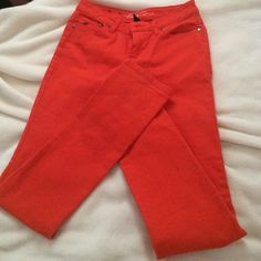 Kenneth Cole orange jeans sz 25 Worn once a little too big for me. Beautiful orange color. Kenneth Cole Jeans