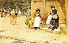 Frederick-Childe-Hassam-xx-The-Flower-Seller-xx-Private-collection.jpg (880×557)