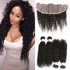 Beautyforever Lace Frontal Closure With 4Bundles Malaysian Curly Hair 14,16,18,20