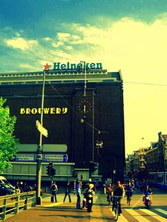The Heineken Brewery, where no actual beer is being brewed anymore, is still a very popular tourist thing in Amsterdam.