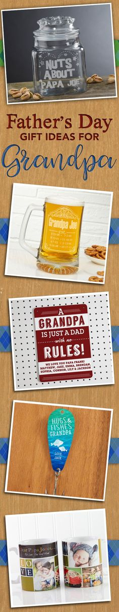 65bf63ef AWESOME Personalized Father's Day Gift ideas for Grandpas! You can have  them engraved with any